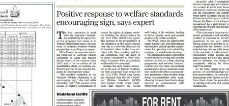 Gulf Times Daily newspaper June 2014